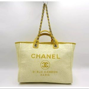 Authentic CHANEL Deauville 2way Tote